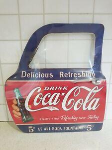 """man cave tin sign """" coca cola """" car door sign wall sign"""