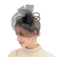 9e8fda27fdb95 Women Feather Headwear Fascinator Hair Clip Mesh Wedding Birdcage Hat Party  New