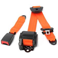 Car Seat Belt Lap 3 Point Safety Adjustable Retractable Universal orange New