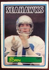 Jim Zorn 1983 Topps#393 Footbal Card 1983 Fleer Seahawks#51 ShopTradingCards.com