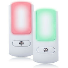 Maxxima LED Color Changing Night Light with Dusk To Dawn Sensor (Pack of 2)