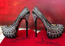 new CHRISTIAN LOUBOUTIN Decorapump strass platform pump size 38.5 from fw 2012