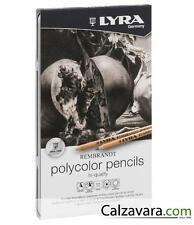 LYRA Pastelli Rembrandt Polycolor Scatola Metallo Tonalità di Grigio 12 Toni