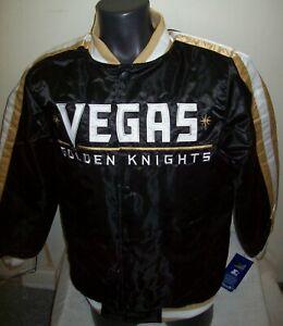 LAS VEGAS GOLDEN KNIGHTS Starter Snap Down Jacket BLACK  S M L XL