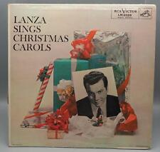 Vintage Mario Lanza Sings Christmas Carols Record Album Vinyl LP jds