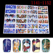 Christmas Water Transfer Nail Art Decoration Stickers Decals Xmas WL A1141-1152
