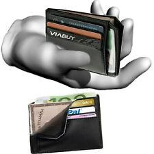 Porta carte di credito tessere da uomo in pelle portafoglio piccolo slim sottile