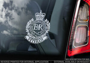 Royal Engineers Veteran - Car Sticker - Military Army Forces Window Decal - V01
