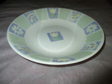 Interiors Florence Fine English Earthenware Purple Green Tulip Daisy 20cm Bowl