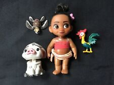 Disney Store Mini Animator Doll Moana Pua Hei Hei Play Set