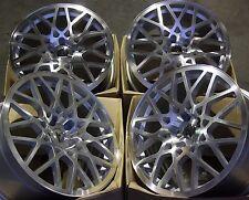 """18"""" Ruedas de aleación de plata LP-560 se adapta a 5X100 Audi VW Seat Skoda Volkswagen Toyota"""