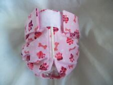 Female Dog Puppy Pet Diaper Washable Pants Sanitary Underwear PINK BONES X-Small