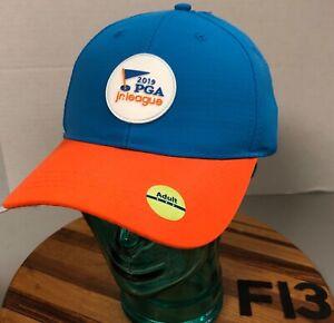NWT 2019 PGA JR. LEAGUE HAT BLUE/ORANGE STRAPBACK ADJUSTABLE F13