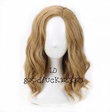 Captain cosplay wig Marvel 40 cm short wavy curly blonde hair wig + a wig cap