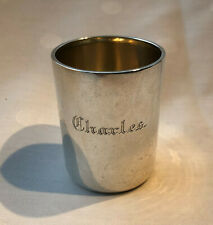 "75mm Cup / Beaker "" CHARLES "", 830/1000 Silver, BE, Goteborg / Sweden 1910, 105g"