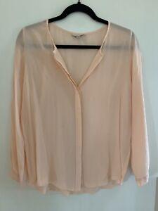 joie small peach silk blouse
