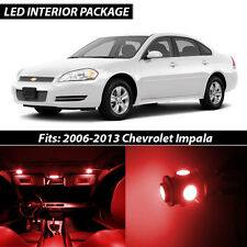 2006-2013 Chevrolet Impala Red Interior LED Lights Package Kit