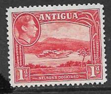 ANTIGUA POSTAL ISSUE - KGV1 ERA, 1938 MINT DEFINITIVE 1d STAMP NELSON'S DOCKYARD