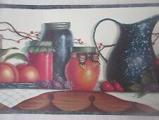 Chesapeake Kitchen Fruit Prepasted Vinyl Wallpaper Border 5 Yds Washable