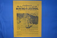 VINTAGE CALIFORNIA MINING JOURNAL JUNE 1969 VOLUME 38 NUMBER 10