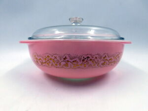 """RARE Vintage 1959 Pyrex """"Duchess"""" Casserole 024 Made For Stanley Home Products"""