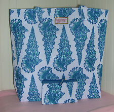 New Estee Lauder Lilly Pulitzer Blue Sea Shell Summer Tote Bag & Coin Purse