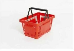 21 Litre Plastic Shopping Basket Red