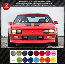 """Front windshield banner Chevy IROC-Z  logo text 40"""" wide"""