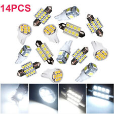 14x White LED Light Interior Package Set for T10 & 31mm Map Dome + License Plate