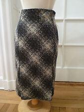 NWT: LAFAYETTE 148 Black/Lt. Gray Patterened Skirt, Italian Size 38 (US 0/2) Pet
