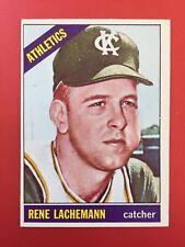 Nice!! Rene Lachemann ROOKIE 1966 Topps Athletics Mariners Rockies Marlins Cubs
