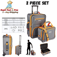 Tote Roller Bag Travel Carry On Luggage Organizer Suitcase 2 Piece Set Bag New