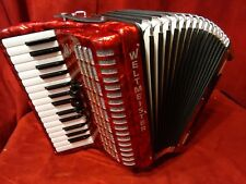 NEW Weltmeister Piano Accordion Red Rubin 30/60 MM Made in Germany
