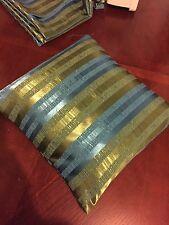 Bleu Vert Rétro Vintage Housse de coussin, professionnellement fait de années 60 Années 70 Chiffon