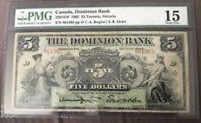 Dominion of Canada  1905 $5 Toronto, Ontario bill Graded Choice Fine 15