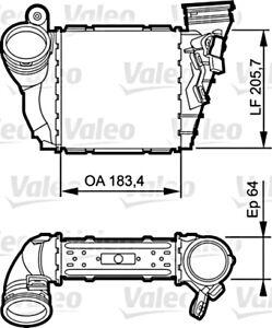 AUDI A3 8L SEAT Leon SKODA Octavia VW Golf 2000-2010 Intercooler VALEO 1.9L TDI