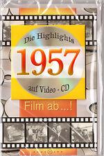 Geburtstagskarte Die Highlights von 1957! Mit Video-CD Jahreschronik, NEU + OVP!