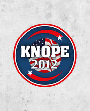 """Lesley Knope Sticker! """"Knope 2012"""", parks and recreation, Amy Poehler, pawnee"""