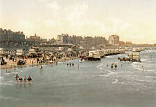 "PS16 Vintage 1890's Photochrom Photo - Margate Beach England - Print A3 17""x12"""