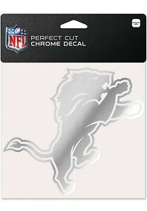 NFL Detroit Lions Decal 6x6 Perfect Cut Chrome