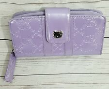 Loungefly Hello Kitty Lavender Purple Embossed Faux Vegan Leather Wallet Sanrio