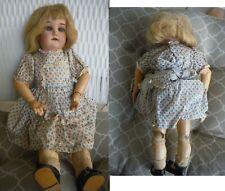 "Antique German Gebrüder Kühnlenz Doll 165 K Wood/Composite 15"" Open Mouth - Rare"
