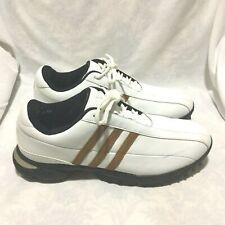 Adidas Adicomfort Golf Shoes White Brown Size 9.5 Men'S