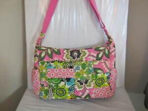 Vera Bradley Priscilla Pink Limes Up Patchwork Diaper BABY Bag RARE 11x15x5 GUC
