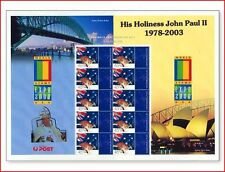 AUS0399 Pope John Paul II, 10 stamps in sheet