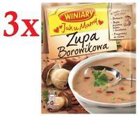 Winiary Zupa Borowikowa Boletus Mushroom Soup 44g Bag (3-Pack) Free Shipping!