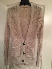 New Women's Hollister Beige Long Sleeve Knit Cardigan Size XS
