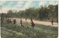 Antique Life In The Army, Skirmish Drill 1909 POSTCARD 2682 Pasadena America USA