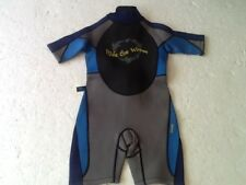 CHILDS-CRANE SURF-WET SUIT-AGE 5-6Y-MAX CHEST 25ins.ST.SLEEVE-GREY/BLUETRIM-VGC