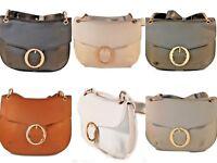 SADDLE BAG ® DESIGN GOLD BUCKLE MAG LOCK CROSS BODY MESSENGER HANDS FREE BAG